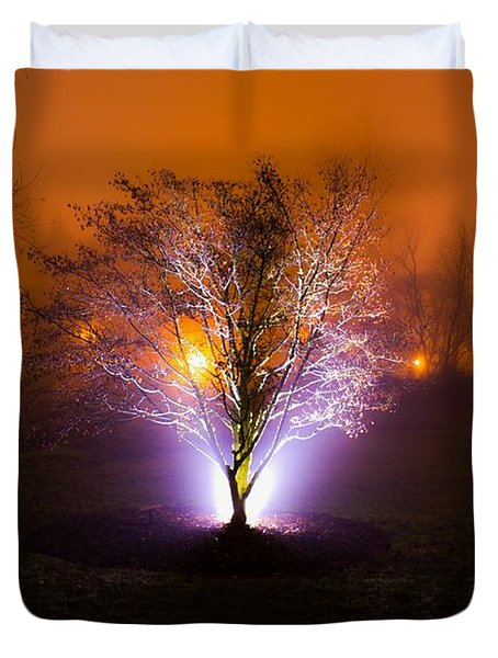 Beautiful Foggy Night 2 Duvet Cover