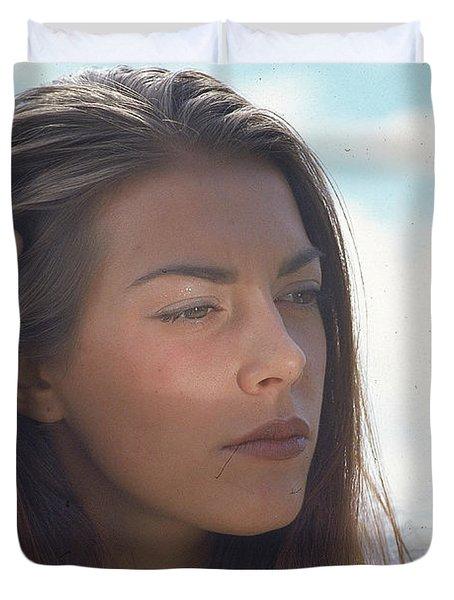 Beautiful Girl Duvet Cover