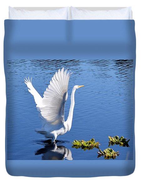 Beautiful Grest White Egret Duvet Cover