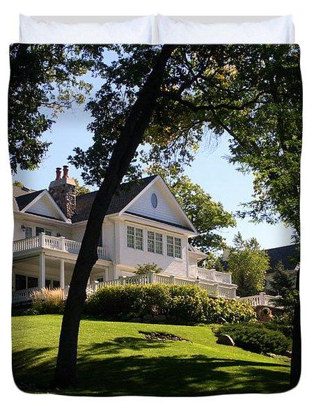 Beautiful Hillside Home Duvet Cover