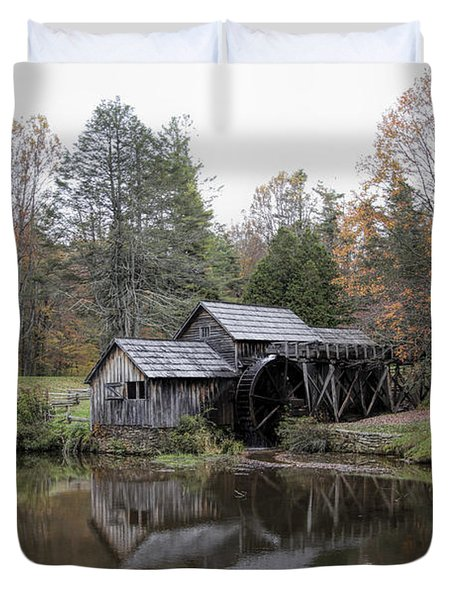 Beautiful Historical Mabry Mill Duvet Cover