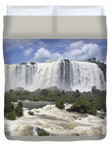 Beautiful Iguazu Waterfalls  Duvet Cover