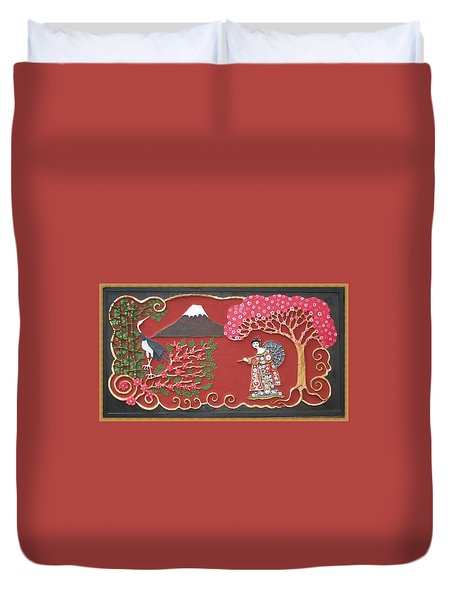 Beautiful Japan Duvet Cover by Otil Rotcod