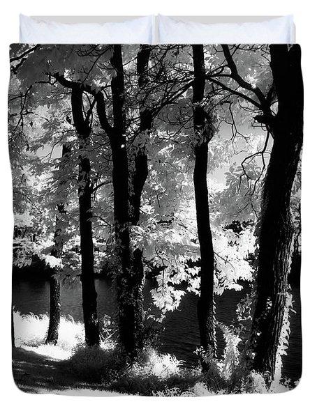 Beautiful Landscape Trees Duvet Cover