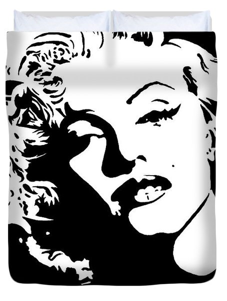 Beautiful Marilyn Monroe Original Acrylic Painting Duvet Cover