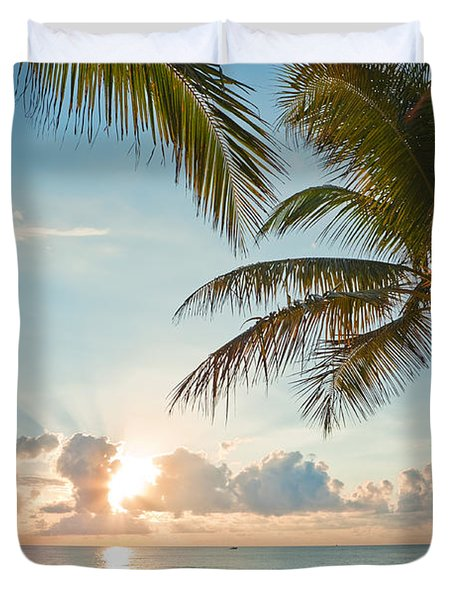 Beautiful Morning In Ft. Lauderdale Florida Duvet Cover by Sharon Dominick