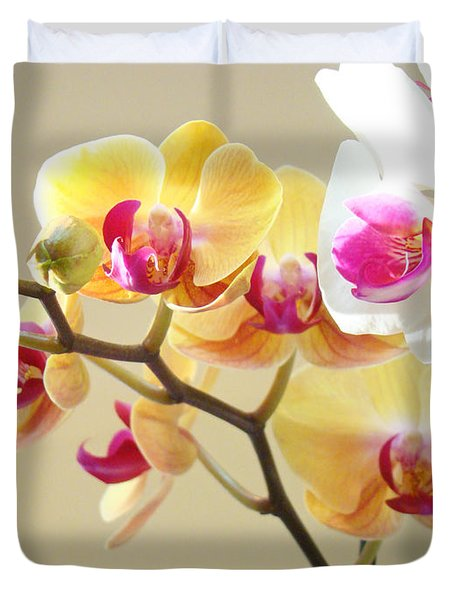 Beautiful Orchids Floral Art Prints Orchid Flowers Duvet Cover