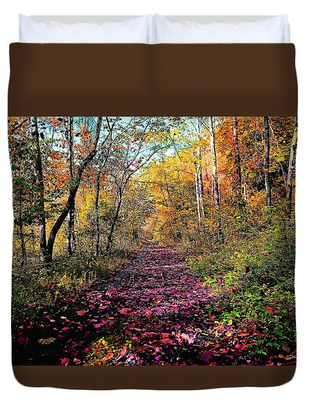 Painted Forrest Duvet Cover