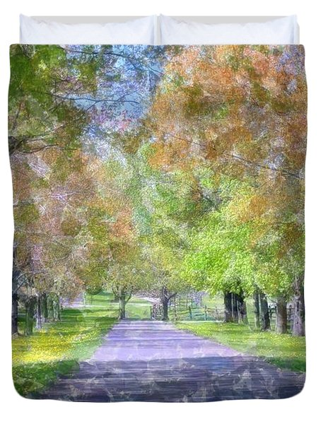 Beautiful Pathway Duvet Cover by Kathleen Struckle