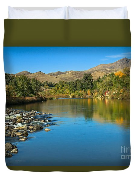 Beautiful Payette River Duvet Cover by Robert Bales