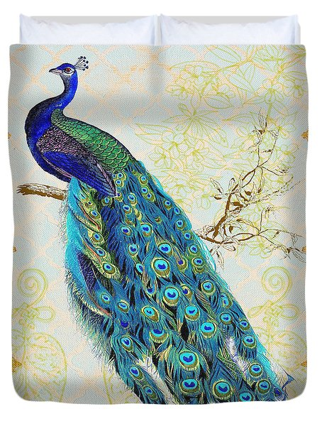 Beautiful Peacock-b Duvet Cover