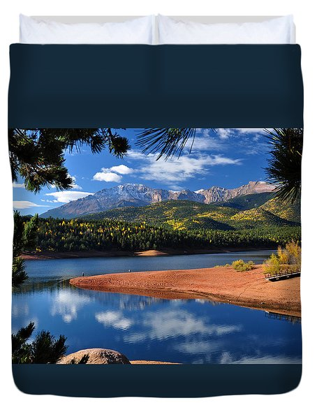 Beautiful Pikes Peak At Crystal  Duvet Cover by John Hoffman