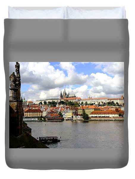 Duvet Cover featuring the photograph Beautiful Prague by Ira Shander