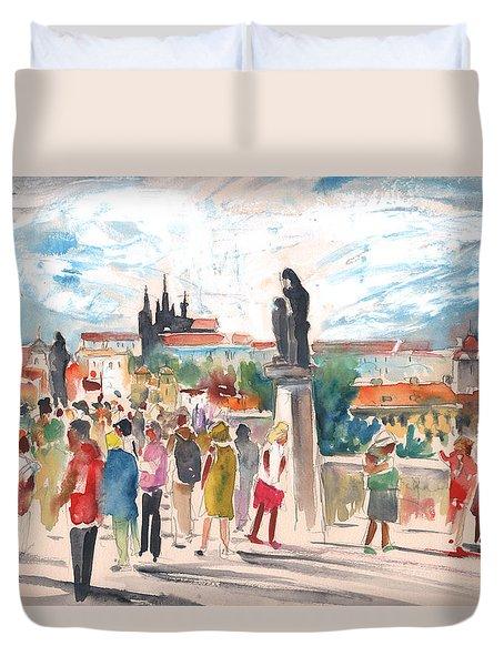 Beautiful Prague Duvet Cover by Miki De Goodaboom