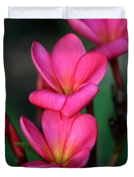 Beautiful Red Plumeria Duvet Cover