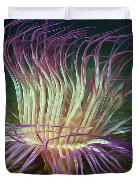 Beautiful Sea Anemone 1 Duvet Cover by Lanjee Chee