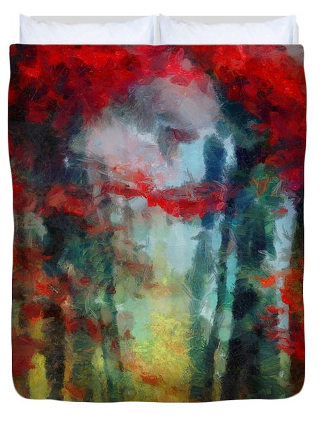 Duvet Cover featuring the painting Beautiful Secrets by Joe Misrasi