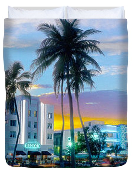 Beautiful South Beach Duvet Cover by Jon Neidert