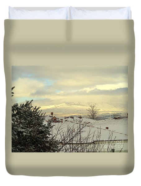 Beautiful Sparkling Snow Duvet Cover by Phyllis Kaltenbach