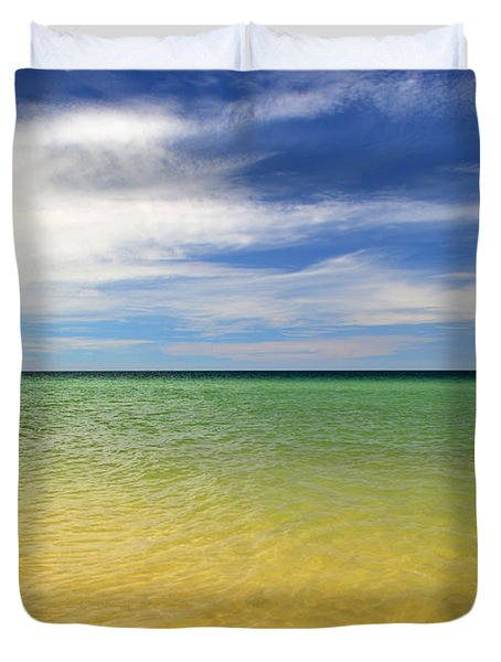Beautiful St George Island Water Duvet Cover by Holden Parker