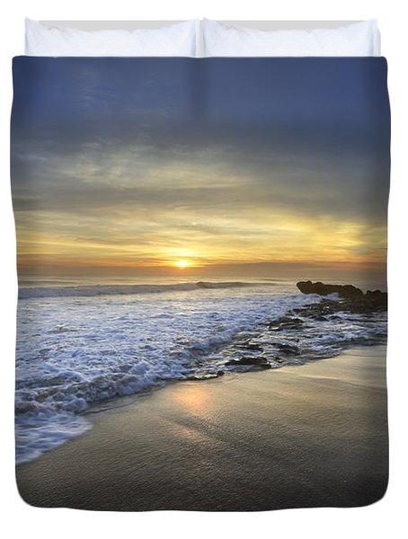 Beautiful Sunrise Duvet Cover by Debra and Dave Vanderlaan