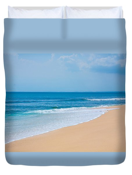 Beautiful Surfing Tropical Sand Beach Duvet Cover