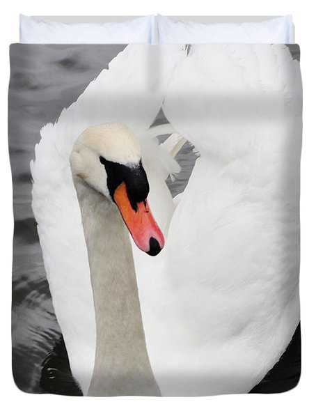 Duvet Cover featuring the photograph Beautiful Swan by Tiffany Erdman