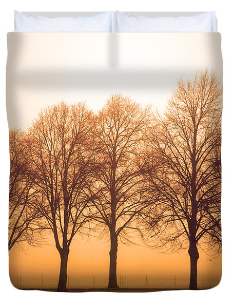 Beautiful Trees In The Fall Duvet Cover by Tommytechno Sweden