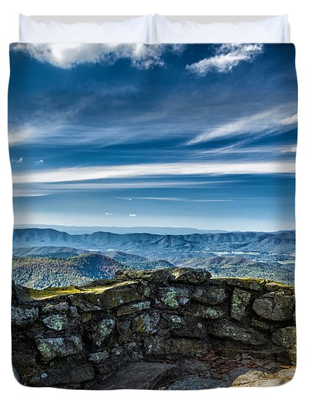 Beautiful View Of Mountains And Sky Duvet Cover