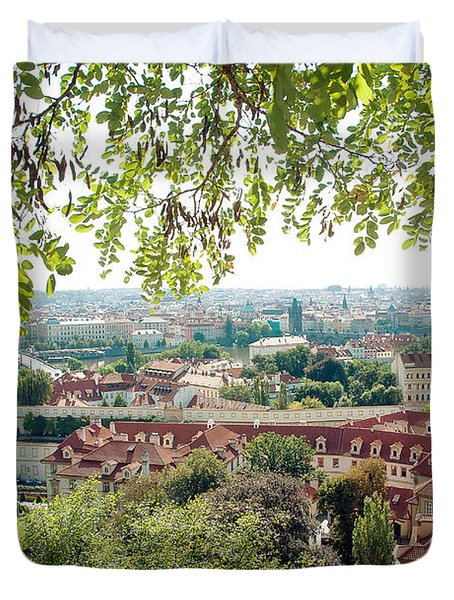 Beautiful View Of Prague Duvet Cover by Ivy Ho
