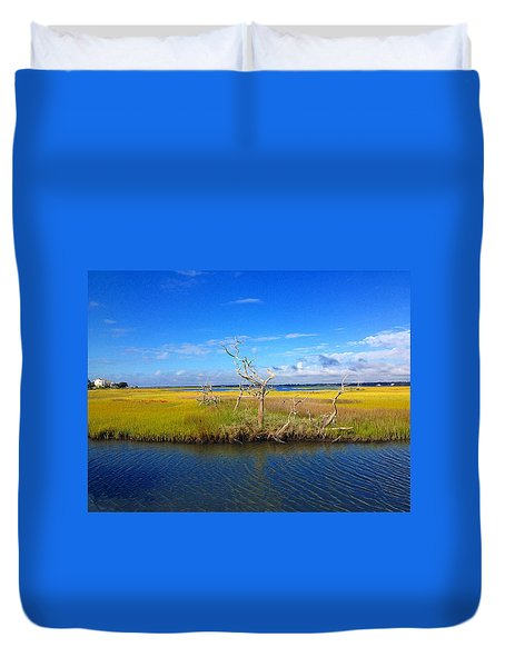Beautiful View Topsail Island Duvet Cover