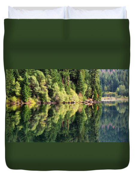 Duvet Cover featuring the photograph Beautiful Water by Katie Wing Vigil