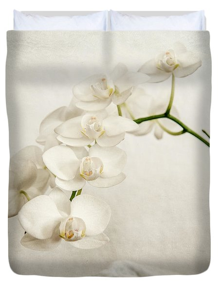 Beautiful White Orchid II Duvet Cover by Hannes Cmarits