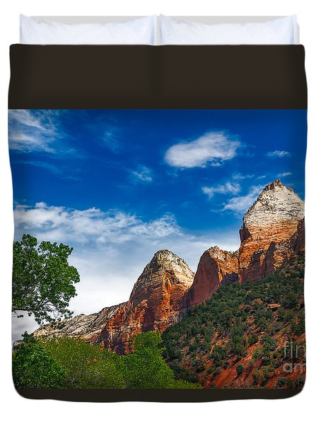 Beautiful Zion Duvet Cover by Robert Bales