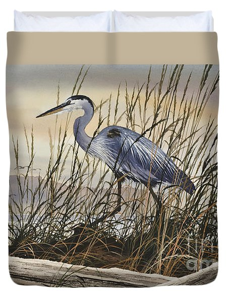 Beauty Along The Shore Duvet Cover