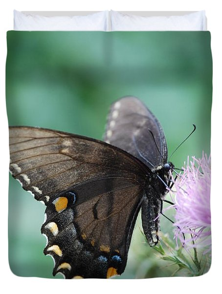 Beauty And Thistle Duvet Cover by Eric Liller
