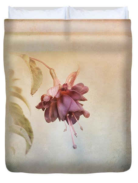 Beauty Fades Softly Framed Duvet Cover by Susan Capuano