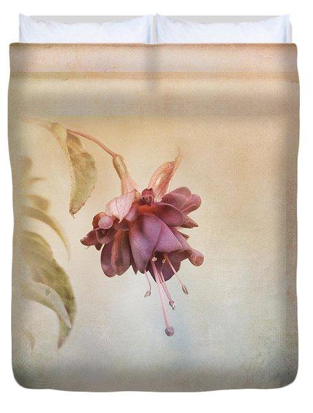 Beauty Fades Softly Framed Duvet Cover