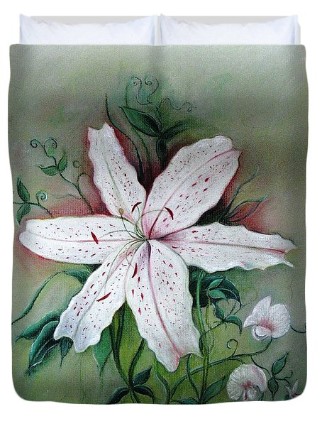 Beauty For Ashes Duvet Cover by Hazel Holland