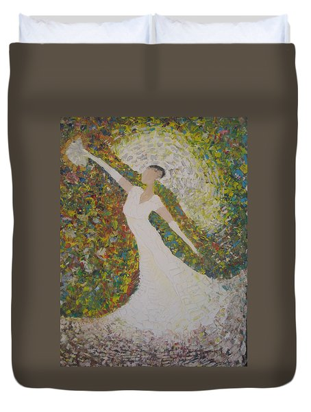 Beauty For Ashes Duvet Cover by Rachael Pragnell