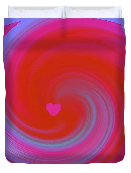 Duvet Cover featuring the digital art Beauty Marks by Catherine Lott