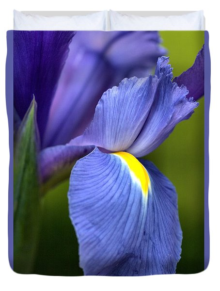 Duvet Cover featuring the photograph Beauty Of Iris by Joy Watson