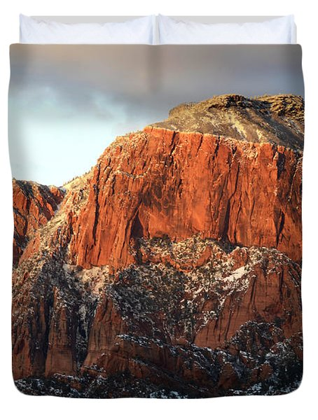 Beauty Of Kolob Canyon  Duvet Cover by Bob Christopher