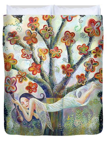 Beauty Of Tree Duvet Cover by Manami Lingerfelt