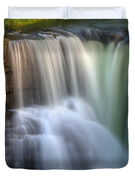 Beauty Of Water Duvet Cover by Bob Christopher