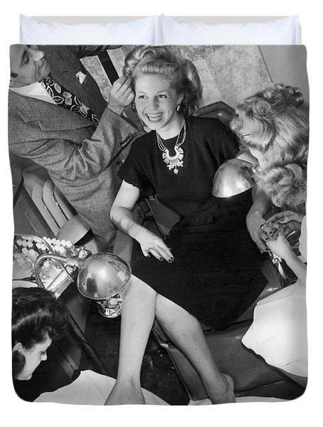 Beauty Salon Glamorizing Duvet Cover by Underwood Archives