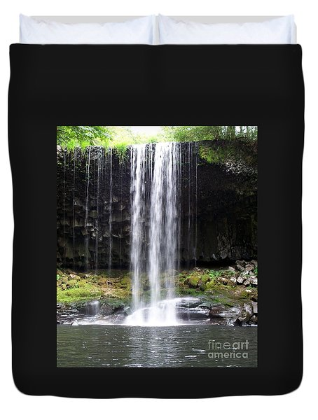 Duvet Cover featuring the photograph Beaver Falls by Chalet Roome-Rigdon