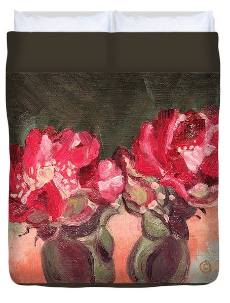 Beavertail Cactus Duvet Cover
