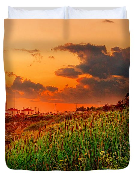 Beavertail Spectacular- Beavertail State Park Rhode Island Duvet Cover