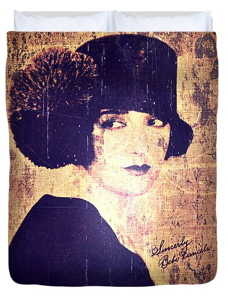 Bebe Daniels - 1920s Actress Duvet Cover by Absinthe Art By Michelle LeAnn Scott